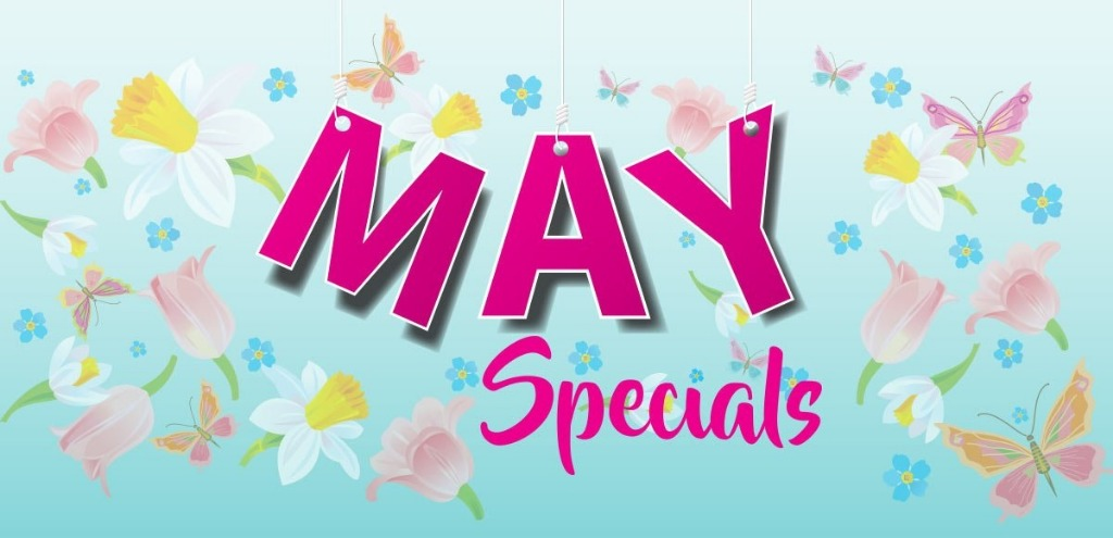 MAY SPECIAL - Book in May & Enjoy $40 Spending money